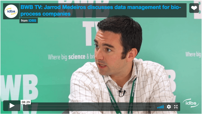 Video: Jarrod Medeiros discusses data management for bioprocess companies with BWB TV