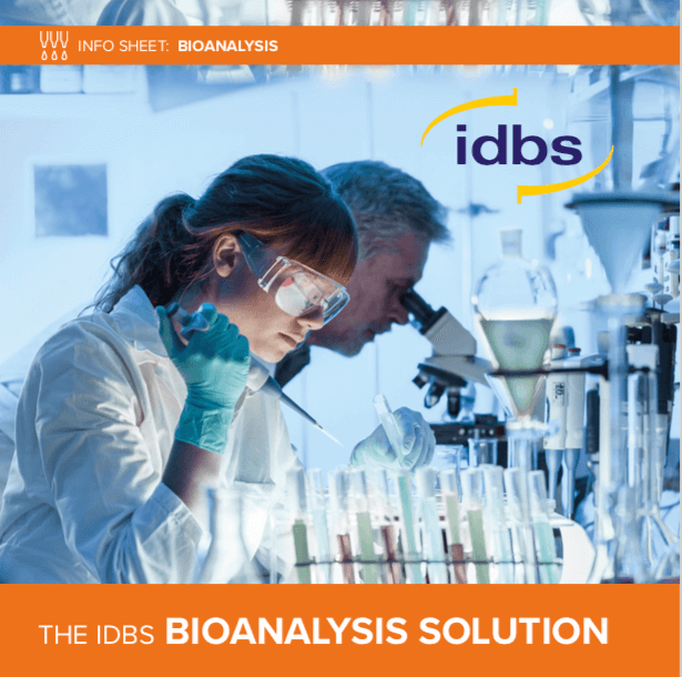 Info Sheet: The IDBS Bioanalysis Solution