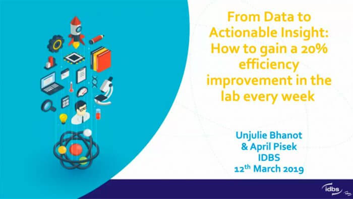 From Data to Actionable Insight: How to gain a 20% efficiency improvement in the lab every week