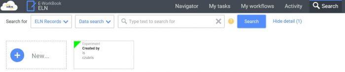 E-WorkBook searches