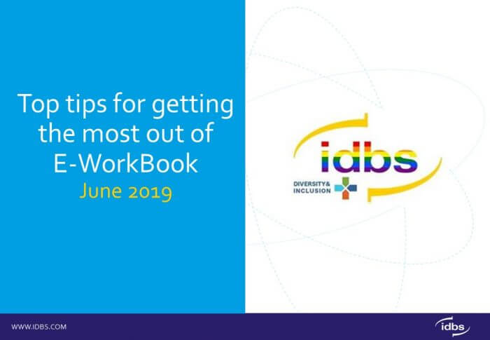 Top tips for getting the most out of E-WorkBook's UX functionality.