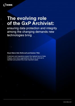 The evolving role of the GxP Archivist