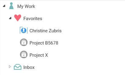 E-WorkBook favourites